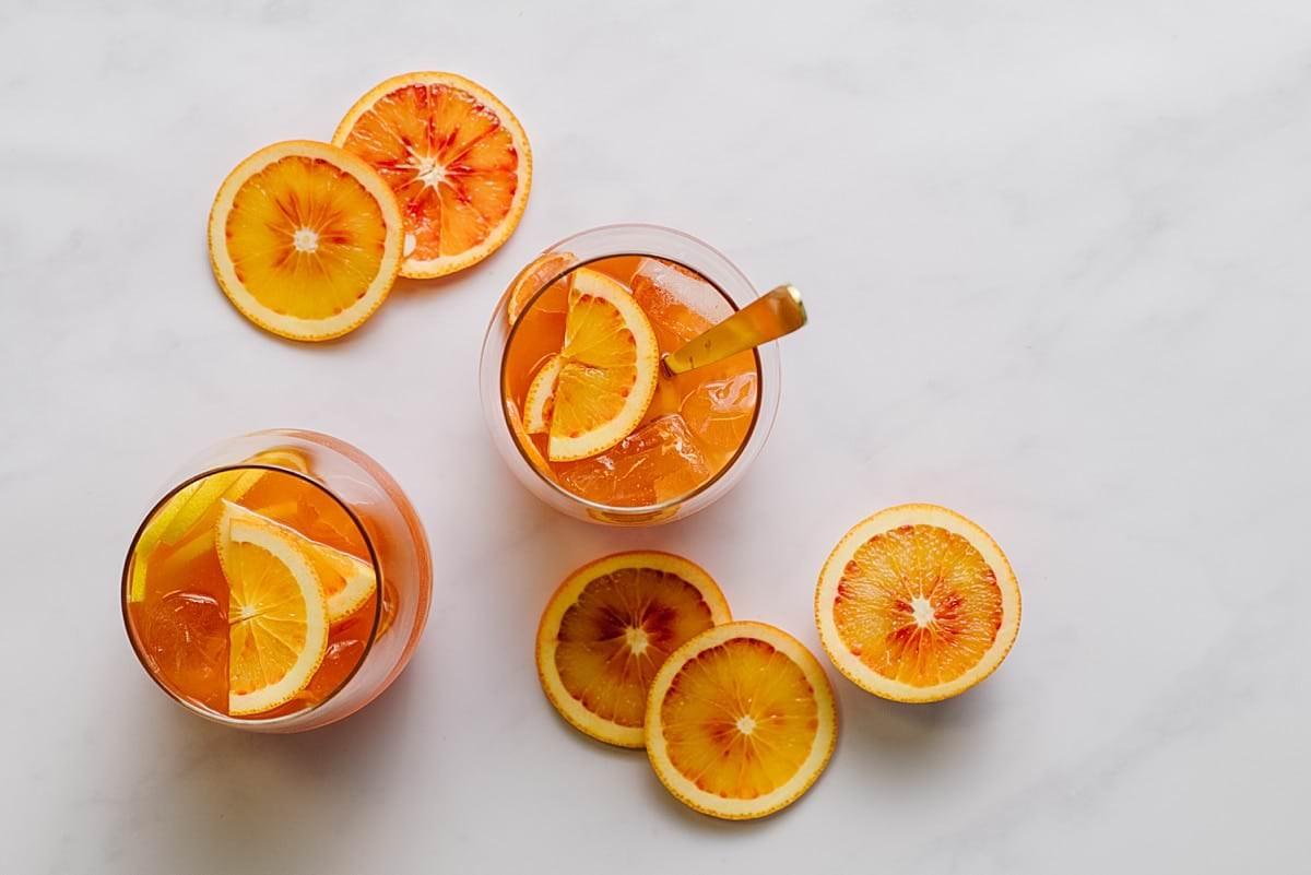 Blood Orange Amaretto Cocktails