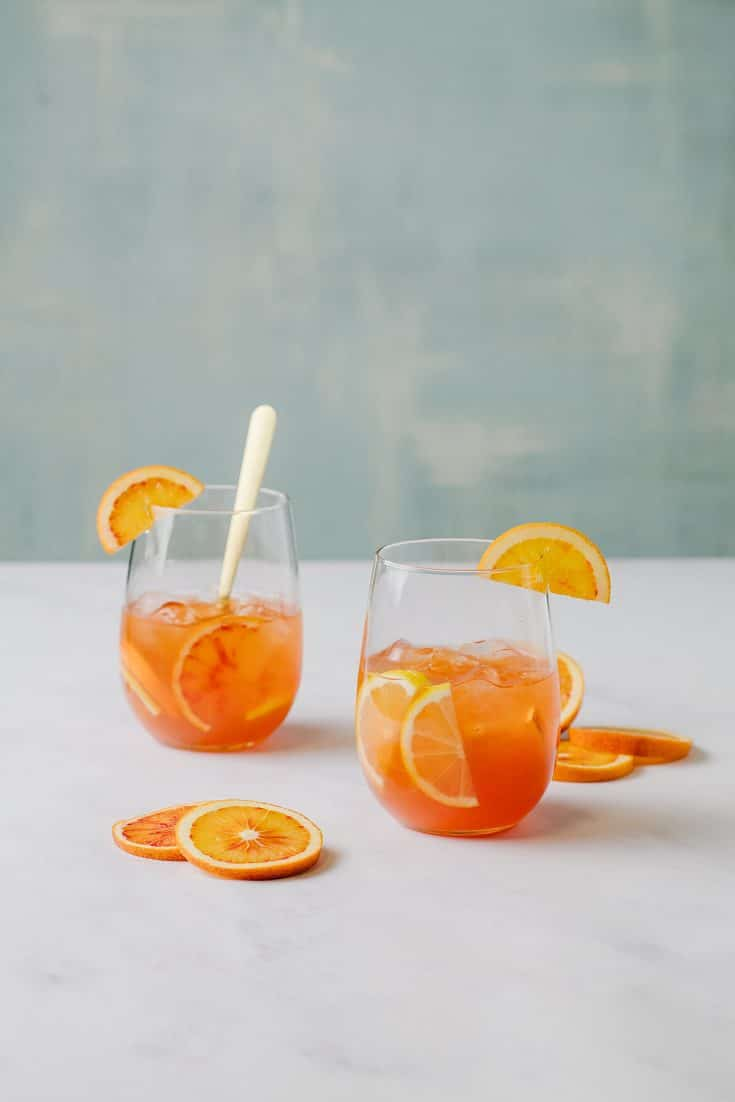 Blood Orange Amaretto Cocktails