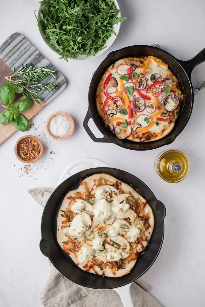 bon appetit cast iron skillet vegetarian pizza