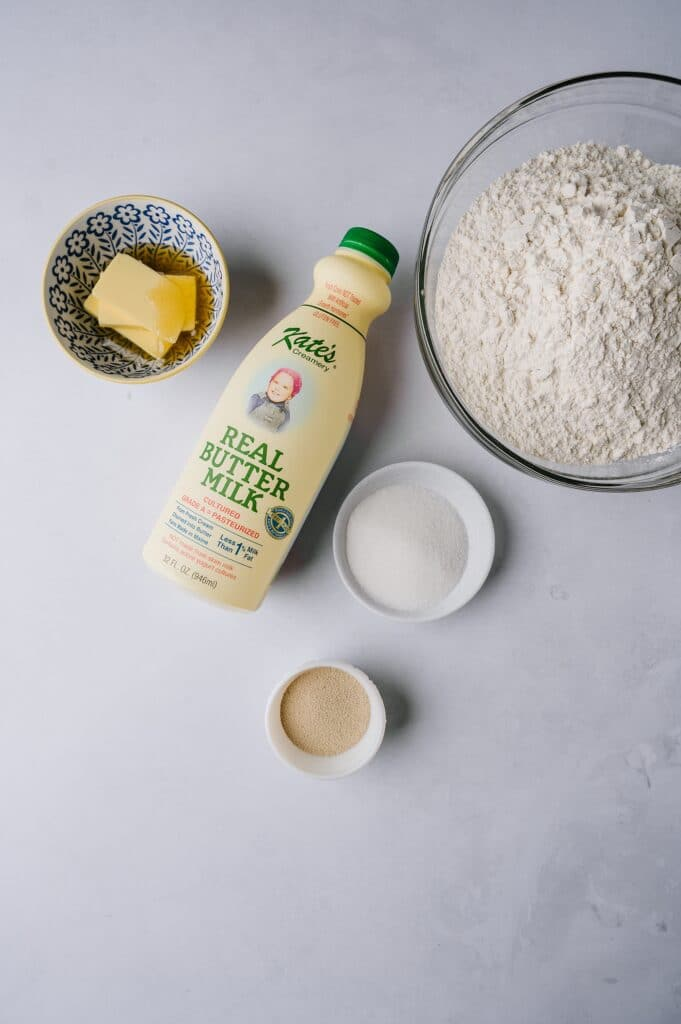 ingredients for huckleberry english muffins