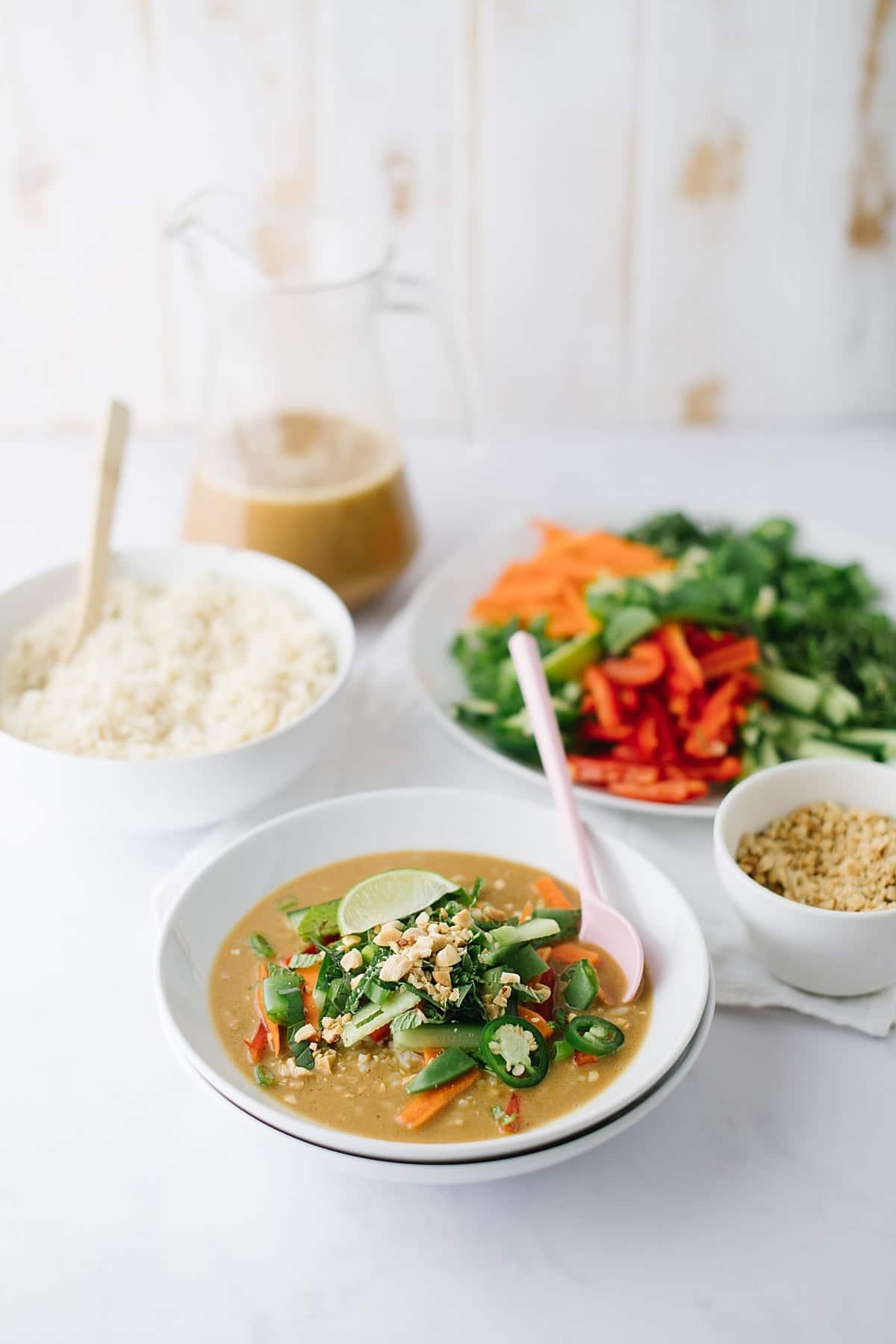 the fauxmartha thai curry rice bowls