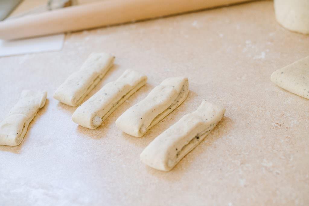 folding swedish cardamom buns