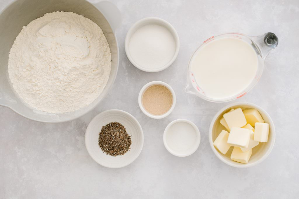 ingredients for dough for cardamom buns