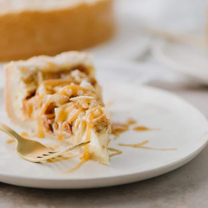 apple almond bavarian cheesecake recipe