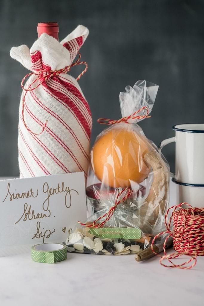 Hostess Gift Idea - Glogg Gift ingredeints