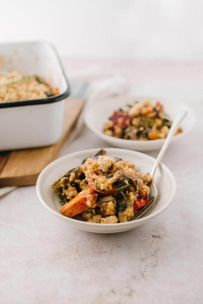 savory vegetable crisp