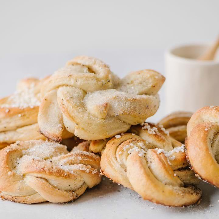 a pile of swedish cardamon buns