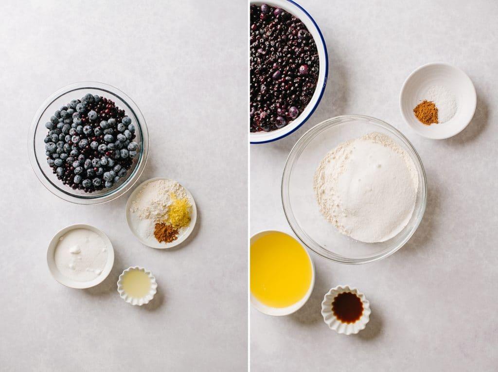ingredients for best blueberry crisp