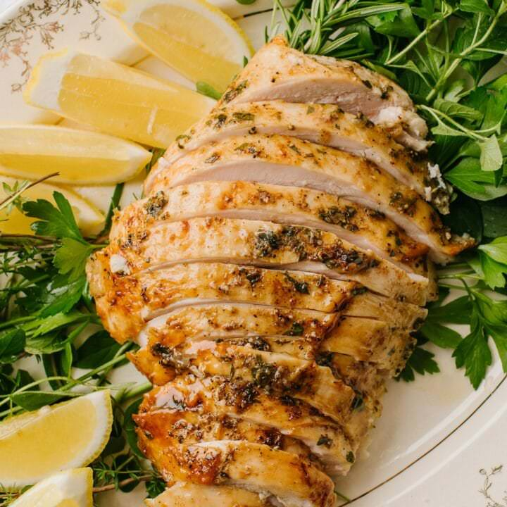 The Best Brined Turkey Breast Recipe Baked Bree