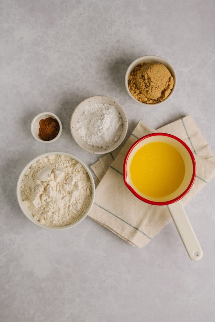 ingredients for crumb cake topping