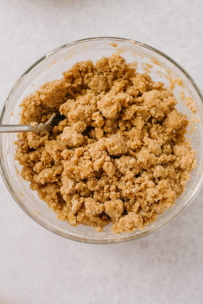 mixed crumb topping in a bowl