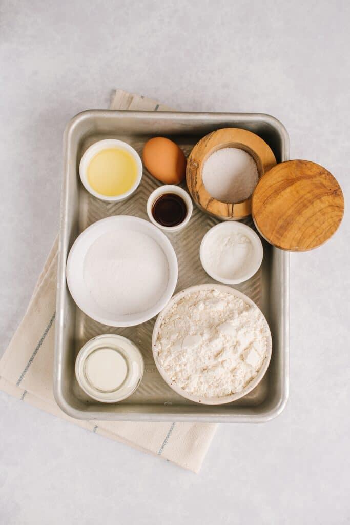 ingredients for crumb cake batter