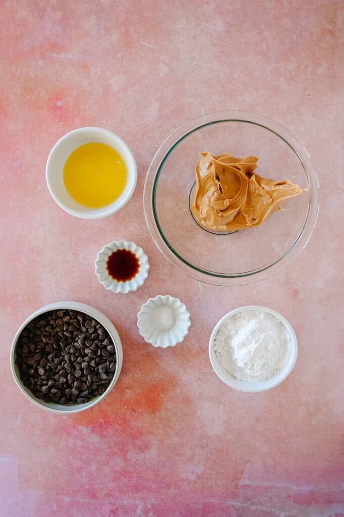 ingredients for peanut butter balls