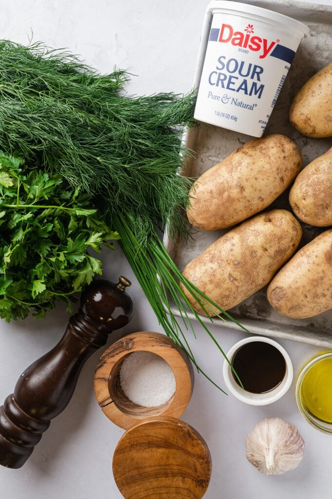 ingredients for baked potatoes