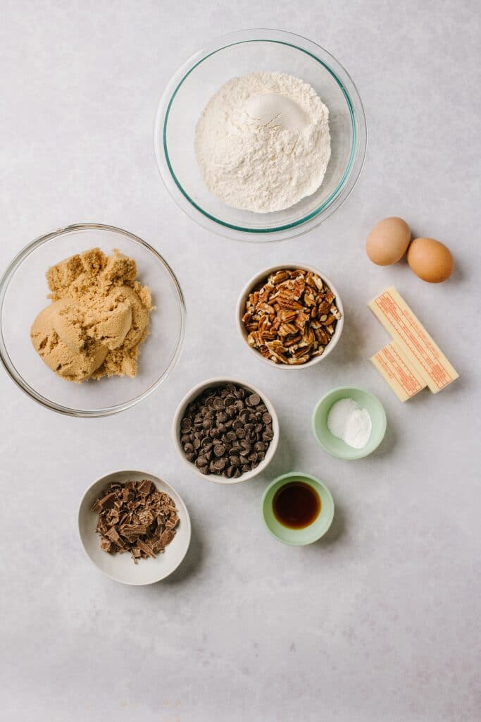 ingredients to make brown butter blondies