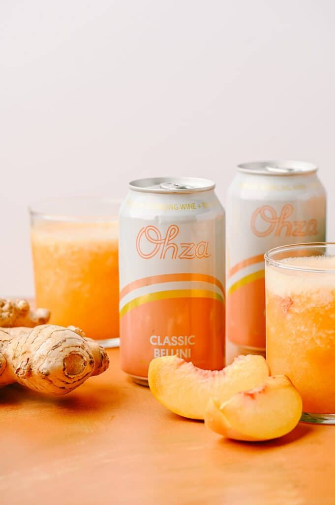 canned bellini ginger and peach slices